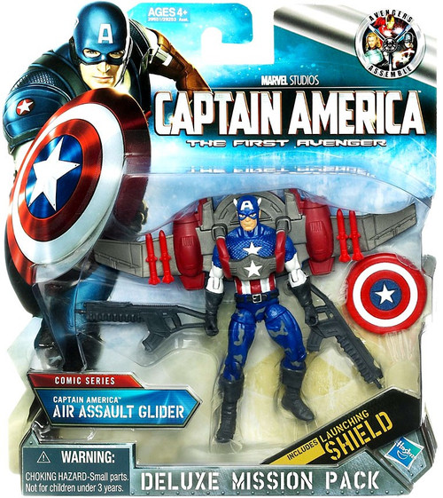 The First Avenger Deluxe Mission Pack Comic Series Captain America Action Figure [Air Assault Glider]