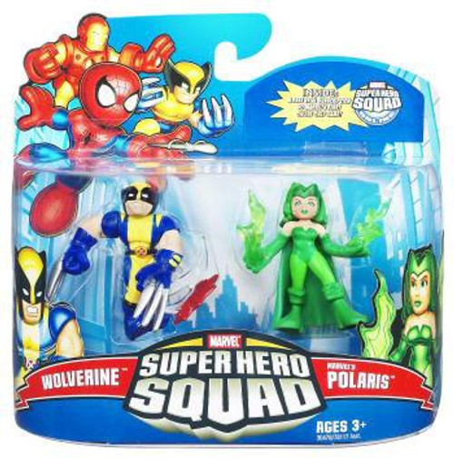 Super Hero Squad Series 21 Wolverine & Marvel's Polaris Action Figure 2-Pack
