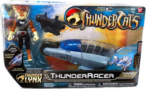 Thundercats Thunder Lynx Basic ThunderRacer Action Figure Vehicle [White Hair]
