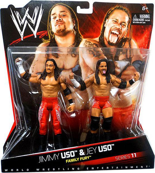WWE Wrestling Series 11 Jimmy Uso & Jey Uso Action Figure 2-Pack