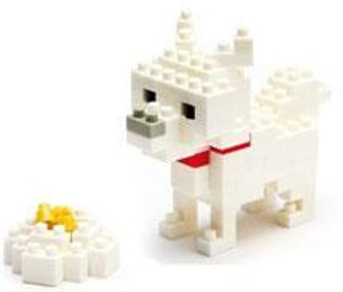 Nanoblock Micro-Sized Building Block Terrier Figure Set