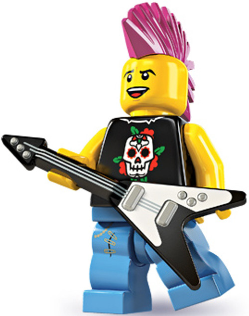 LEGO Minifigures Series 4 Punk Rocker Minifigure [Loose]