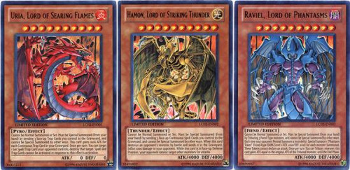 YuGiOh GX Set of All 3 Legendary Collection 2 Beast Ultra Rare Single Cards