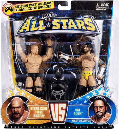 WWE Wrestling All Stars Stone Cold Steve Austin Vs. CM Punk Exclusive Action Figure 2-Pack