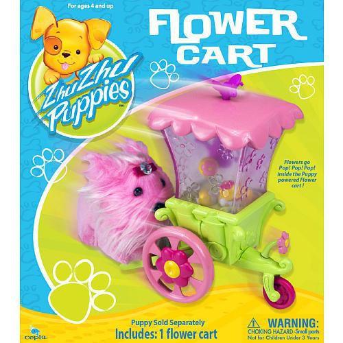 Zhu Zhu Pets Zhu Zhu Puppies Flower Cart Playset