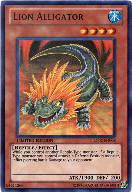 YuGiOh GX Legendary Collection 2 Ultra Rare Lion Alligator LC02-EN008