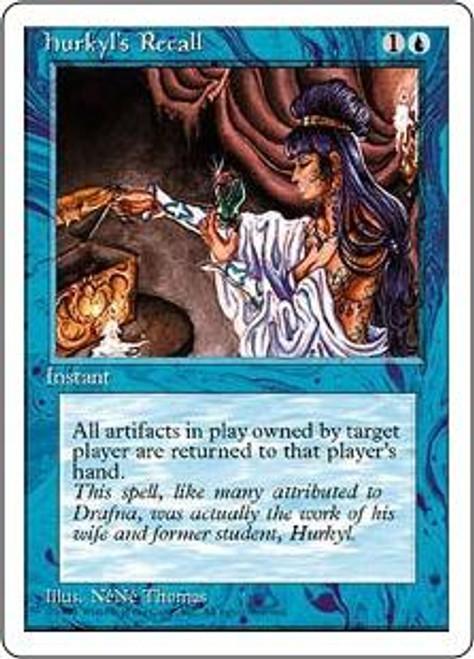 MtG 4th Edition Rare Hurkyl's Recall