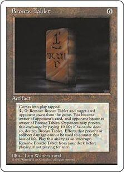 MtG 4th Edition Rare Bronze Tablet