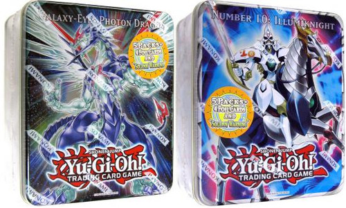 YuGiOh Zexal 2011 Collector Tins Series 2 Galaxy-Eyes Photon Dragon & Number 10 Illumiknight Collector Tins [Sealed]
