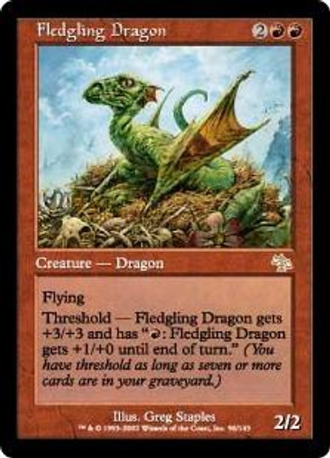 MtG Judgment Rare Fledgling Dragon #90