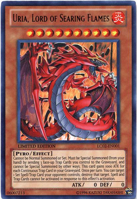 YuGiOh GX Legendary Collection 2 Ultra Rare Uria, Lord of Searing Flames LC02-EN001