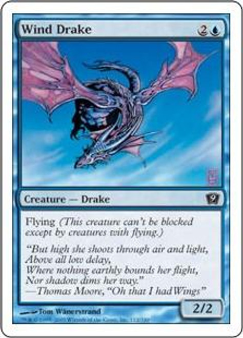 MtG 9th Edition Common Wind Drake #112