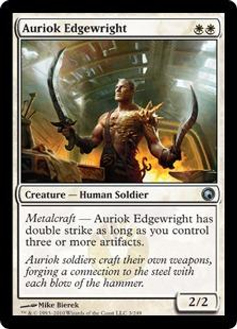 MtG Scars of Mirrodin Uncommon Auriok Edgewright #3