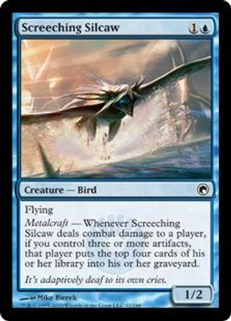 MtG Scars of Mirrodin Common Screeching Silcaw #42