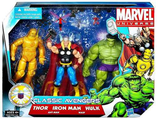 Marvel Universe Super Hero Team Packs Classic Avengers Action Figure Set