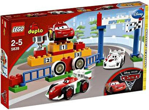 LEGO Disney Cars Duplo Cars 2 World Grand Prix Exclusive Set #5839