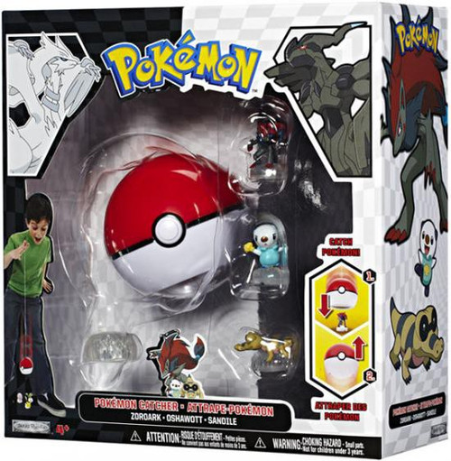 Pokemon Black & White Series 1 Catcher Zoroark, Oshawott & Sandile Figure 3-Pack