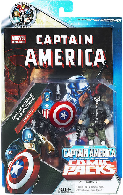 Marvel Universe Marvel's Greatest Battles Comic Packs Captain America & Crossbones Exclusive Action Figure 2-Pack