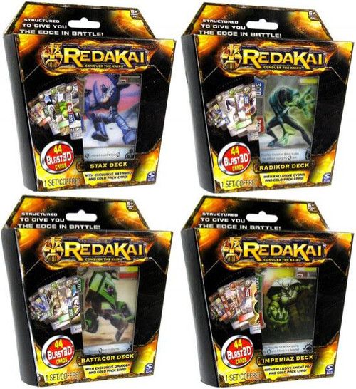 Redakai Conquer the Kairu Set of 4 Structure Decks