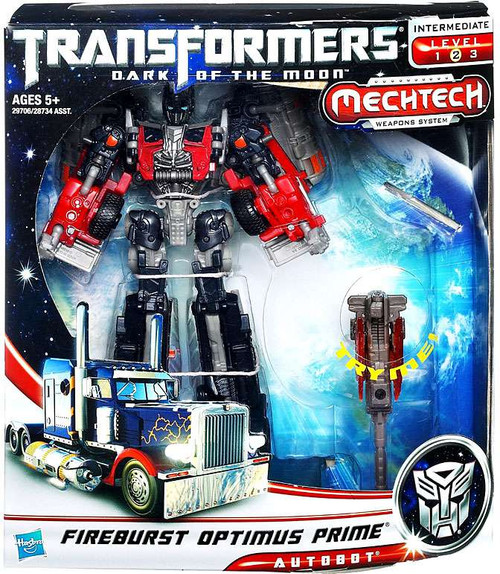 Transformers Dark of the Moon Mechtech Voyager Fireburst Optimus Prime Voyager Action Figure