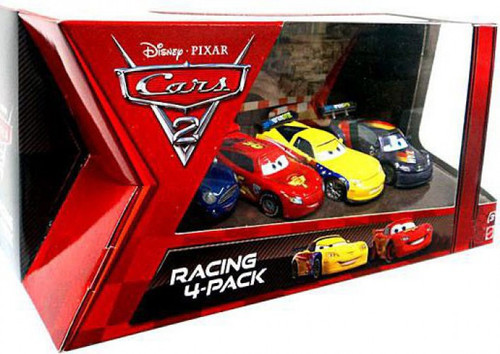 Disney Cars Cars 2 Multi-Packs Racing 4-Pack Exclusive Diecast Car Set [Lightning McQueen]