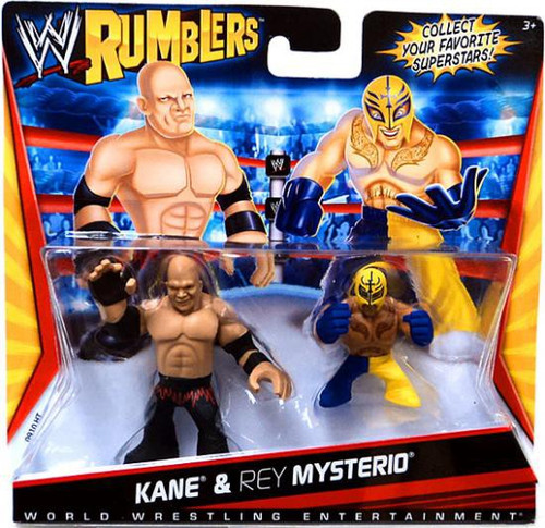 WWE Wrestling Rumblers Series 1 Kane & Rey Mysterio Mini Figure 2-Pack
