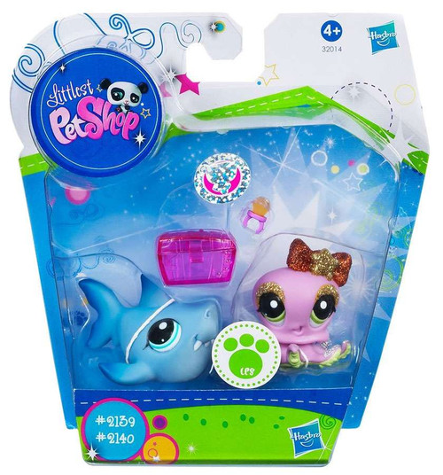 Littlest Pet Shop Pretty Pairs Shark & Octopus Figure 2-Pack #2139, 2140