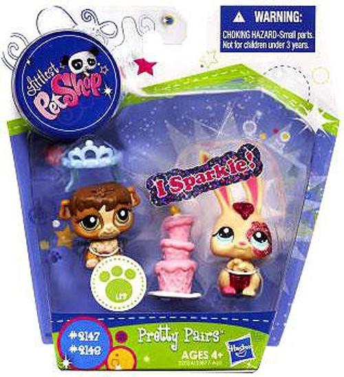 Littlest Pet Shop Pretty Pairs Bunny & Guinea Pig Figure 2-Pack #2147, 2148