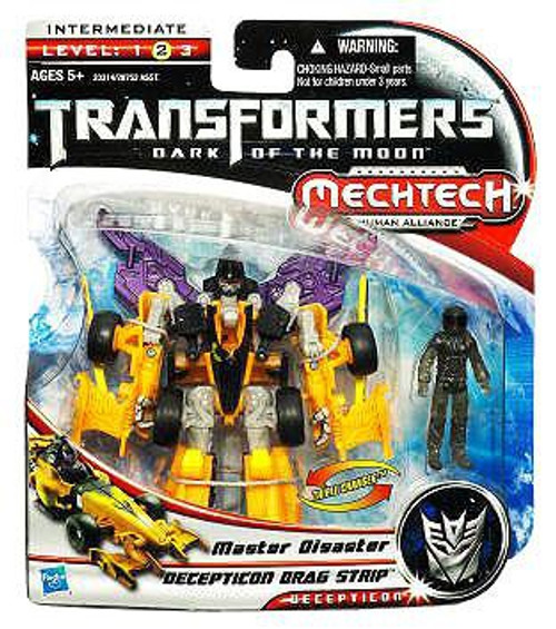Transformers Dark of the Moon Mechtech Decepticon Dragstrip with Master Disaster Action Figure Set