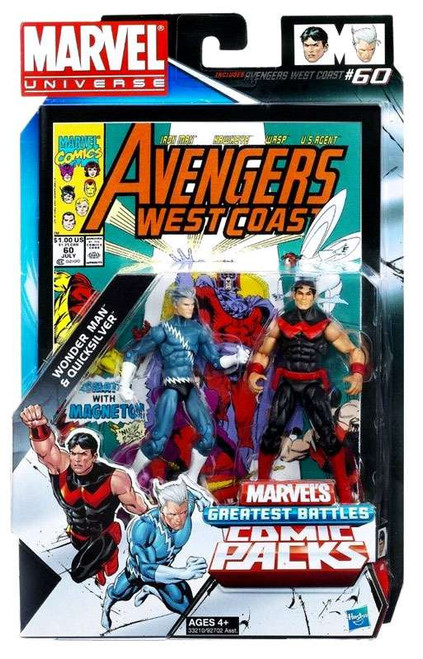 Marvel Universe Marvel's Greatest Battles Comic Packs Wonder Man & Quicksilver Action Figure 2-Pack