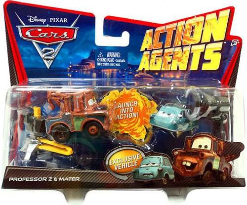 Disney Cars Cars 2 Action Agents Professor Z & Mater Exclusive Plastic Car 2-Pack