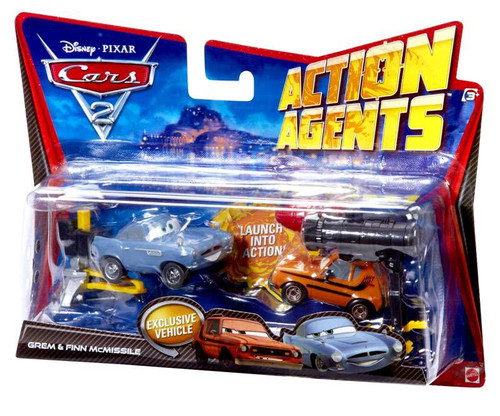 Disney Cars Cars 2 Action Agents Grem & Finn McMissile Exclusive Plastic Car 2-Pack