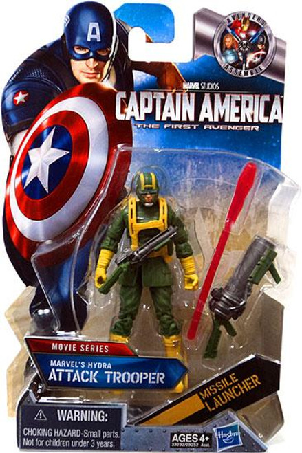 Captain America The First Avenger Movie Series Marvel's Hydra's Attack Trooper Action Figure #15 [Yellow Gloves]