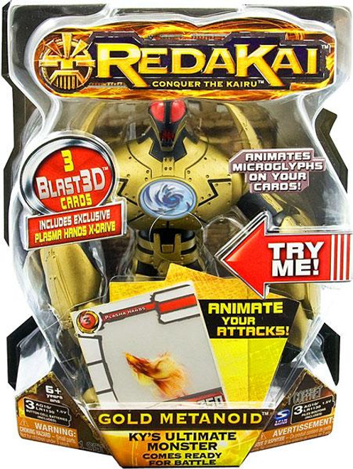 Redakai Deluxe Gold Metanoid Action Figure