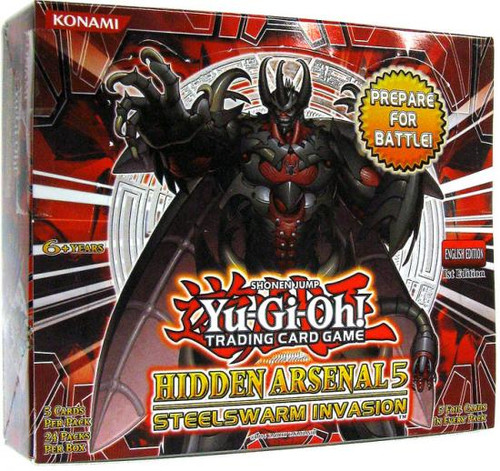 YuGiOh Hidden Arsenal 5: Steelswarm Invasion Booster Box [24 Packs] [Sealed]