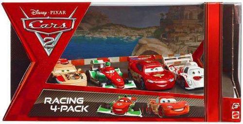 Disney Cars Cars 2 Multi-Packs Racing 4-Pack Exclusive Diecast Car Set [Francesco Bernoulli]