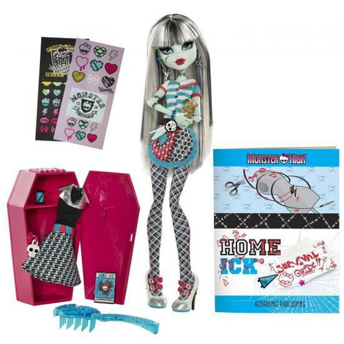 Monster High Classroom Home Ick Frankie Stein 10.5-Inch Doll [With Locker]