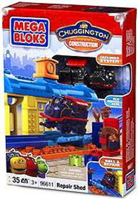 Mega Bloks Chuggington Constructor Repair Shed Set #96611