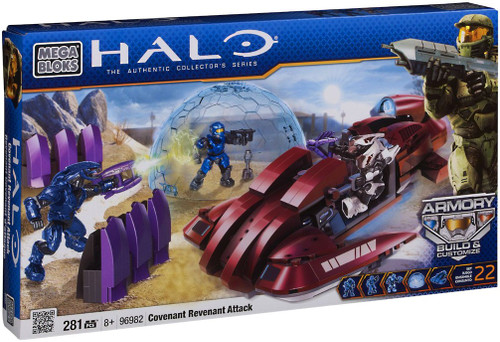 Mega Bloks Halo The Authentic Collector's Series Covenant Revenant Attack Set #96982