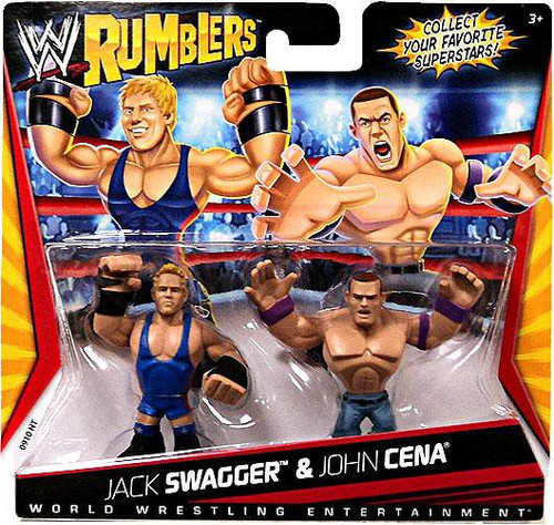 WWE Wrestling Rumblers Series 1 Jack Swagger & John Cena Mini Figure 2-Pack