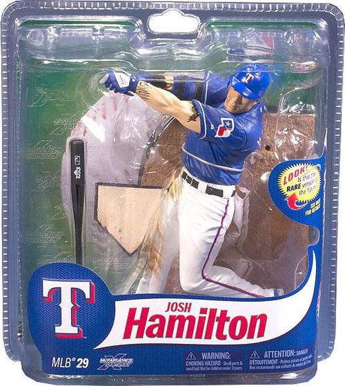 McFarlane Toys MLB Texas Rangers Sports Picks Series 29 Josh Hamilton Action Figure [Blue Jersey]
