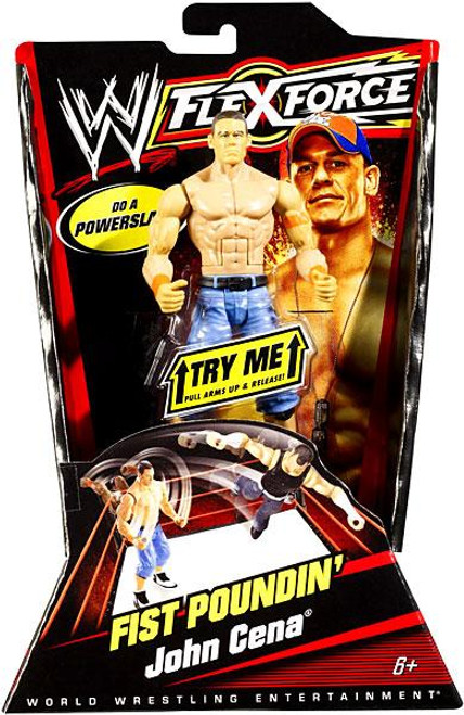 WWE Wrestling FlexForce Series 1 Fist Poundin' John Cena Action Figure [Orange Armbands]