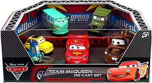 Disney Cars Cars 2 Playsets Team McQueen Exclusive Diecast Car Set