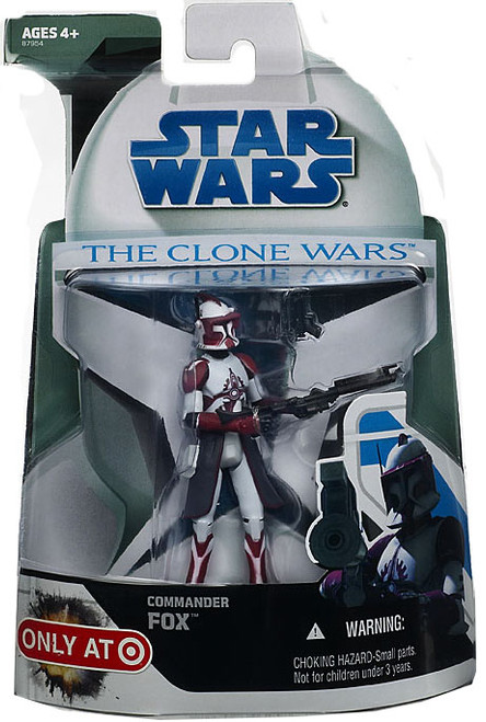Star Wars The Clone Wars Clone Wars 2008 Commander Fox Exclusive Action Figure