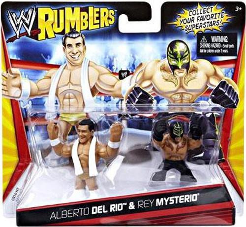 WWE Wrestling Rumblers Series 1 Alberto Del Rio & Rey Mysterio Mini Figure 2-Pack