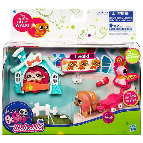 Littlest Pet Shop Walkables Dog Playset #2163 [Wagon]
