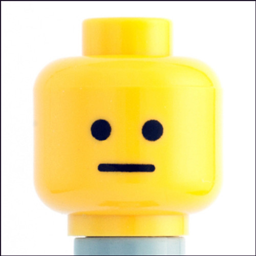 Citizen Brick Custom Printed Minifigure Parts Neutral Loose Head [Loose]