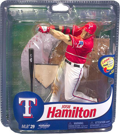 McFarlane Toys MLB Texas Rangers Sports Picks Series 29 Josh Hamilton Action Figure [Red Jersey]