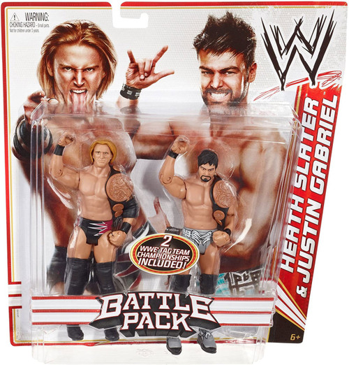 WWE Wrestling Series 14 Heath Slater & Justin Gabriel Action Figure 2-Pack
