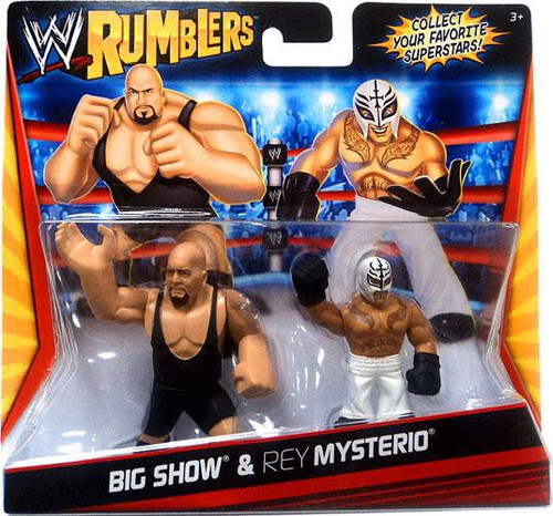 WWE Wrestling Rumblers Series 1 Big Show & Rey Mysterio Mini Figure 2-Pack